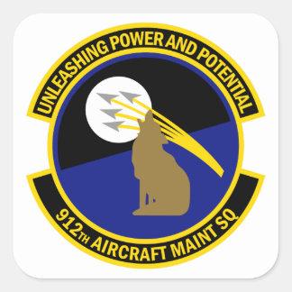 Sticker Carré 912th Escadron d'entretien des avions