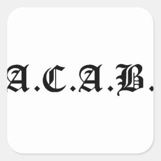 Sticker Carré A.C.A.B., anarchiste, socialiste, matière noire