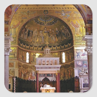 Sticker Carré À l'intérieur de l'église ouais