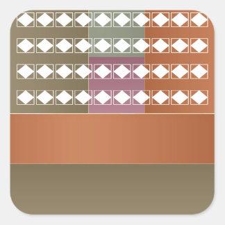 Sticker Carré À moitié blanc + Art propre d'élément chauffant de