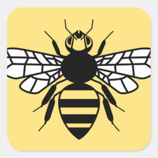 Sticker Carré Abeille de Manchester