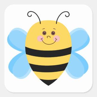 Sticker Carré Abeille mignonne de bébé
