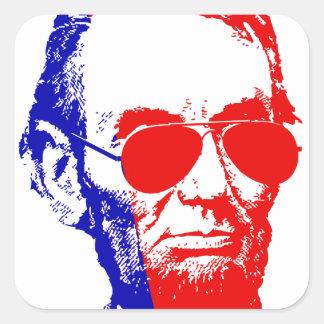 Sticker Carré Abraham Lincoln