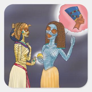 Sticker Carré Achats de Mme Mummific