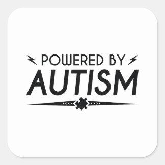 Sticker Carré Actionné par autisme