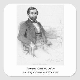 Sticker Carré Adolphe Charles Adam, 1850