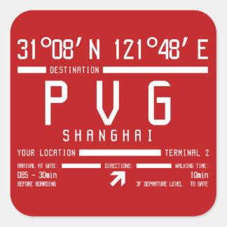 Sticker Carré Aéroport international PVG de Changhaï Pudong