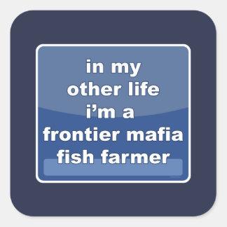 Sticker Carré Agriculteur de poissons de Mafia de frontière