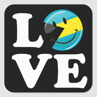 Sticker Carré Aimez la fierté d'île des Bahamas