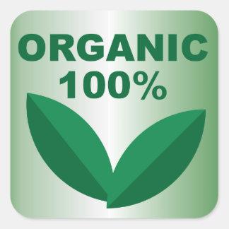 Sticker Carré Aliment biologique organique organique du signe |