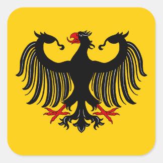 Sticker Carré Allemand Eagle