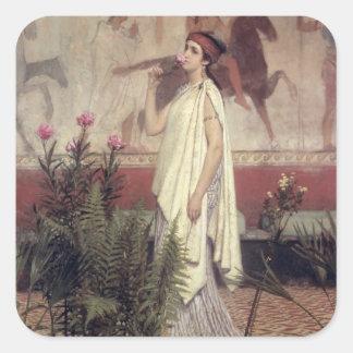 Sticker Carré Alma-Tadema | une femme grecque, 1869