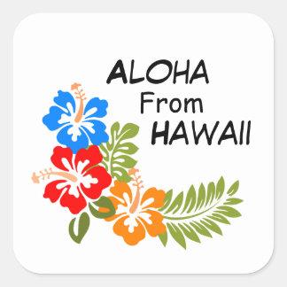 Sticker Carré Aloha d'Hawaï