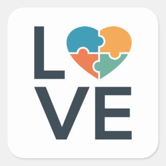 Sticker Carré Amour d'autisme