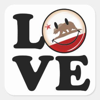 Sticker Carré Amour de la Californie