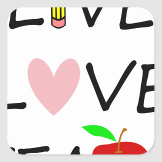 Sticker Carré amour vivant teach2