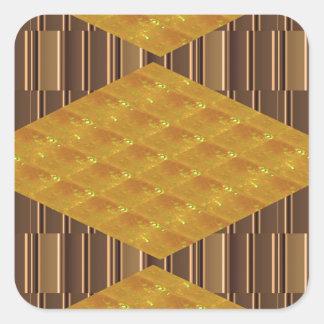 Sticker Carré AMUSEMENT d'or de cadeaux de décoration de plats