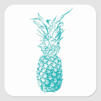 Sticker Carré Ananas