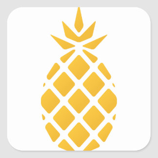 Sticker Carré ananas, fruit, logo, nourriture, tropicale,