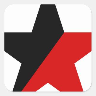 Sticker Carré Anarchisme noir et rouge d'Anarcho-Syndicalisme