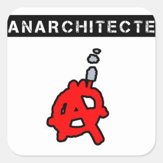 Sticker Carré Anarchitecte - Jeux de Mots - Francois Ville