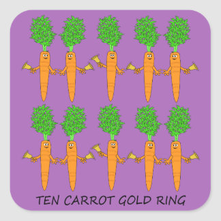 Sticker Carré Anneau d'or de Dix carottes