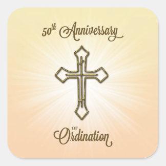 Sticker Carré Anniversaire de classification de félicitations