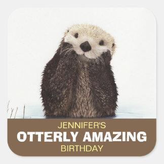 Sticker Carré Anniversaire extraordinaire d'Otterly de loutre