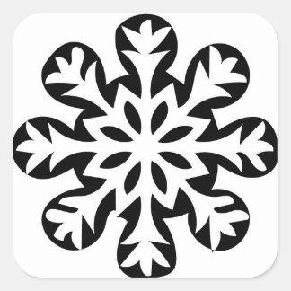 Sticker Carré Approvisionnements d'emballage cadeau de Noël