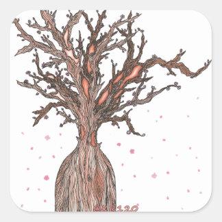 Sticker Carré Arbre humain de Sakura