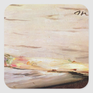 Sticker Carré Asperge de Manet  , 1880