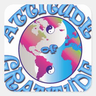 Sticker Carré Attitude de gratitude