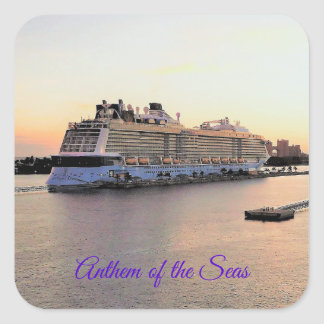 Sticker Carré Aube de port de Nassau avec la coutume de bateau