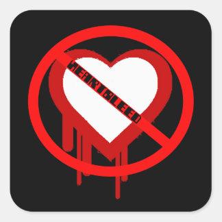 Sticker Carré Aucun Heartbleed