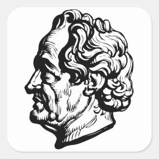 Sticker Carré Auteur allemand Goethe
