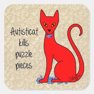 Sticker Carré Autisticat tue des morceaux de puzzle