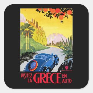 Sticker Carré Automobile d'en de Grece de La de Visitez