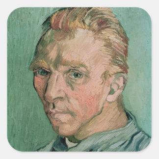 Sticker Carré Autoportrait de Vincent van Gogh |, 1889