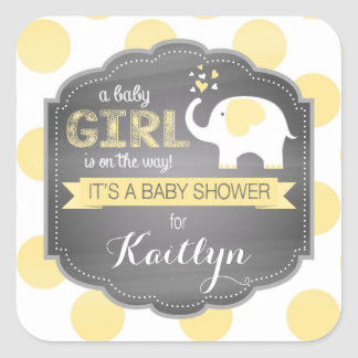 Sticker Carré Baby shower de point d'objet superflu