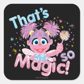 Sticker Carré Baguette magique d'Abby Cadabby