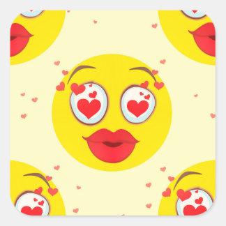 Sticker Carré Baiser Emoji de Valentine