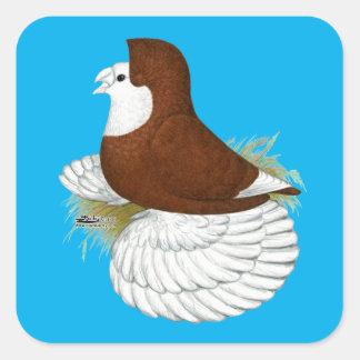 Sticker Carré Baldhead de rouge de pigeon de trompettiste