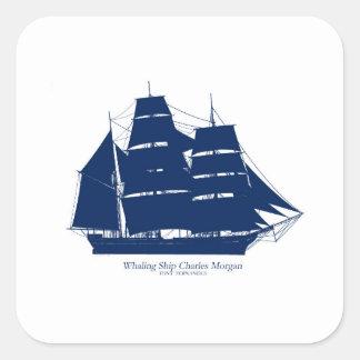 Sticker Carré baleinier élégant Charles Morgan de fernandes