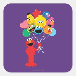 Sticker Carré Ballons d'Elmo