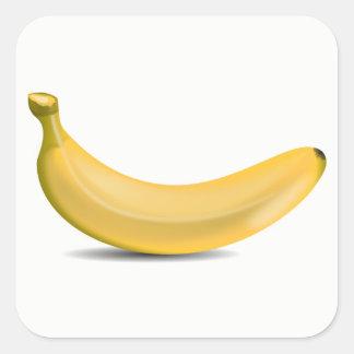 Sticker Carré Banane