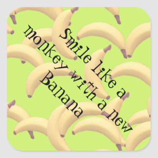 Sticker Carré Bananes