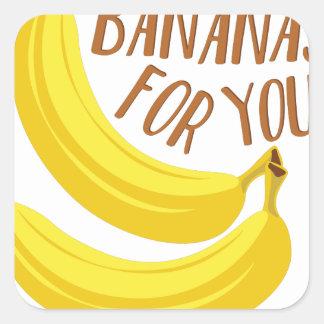Sticker Carré Bananes pour vous