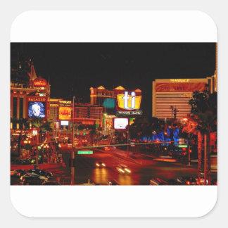 Sticker Carré Bande de Las Vegas