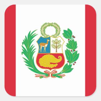 Sticker Carré Bandera del Perú - drapeau du Pérou