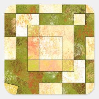 Sticker Carré Belgencissa V1 - couleurs d'automne